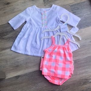 NWT Baby Girl Bikini and Coverup